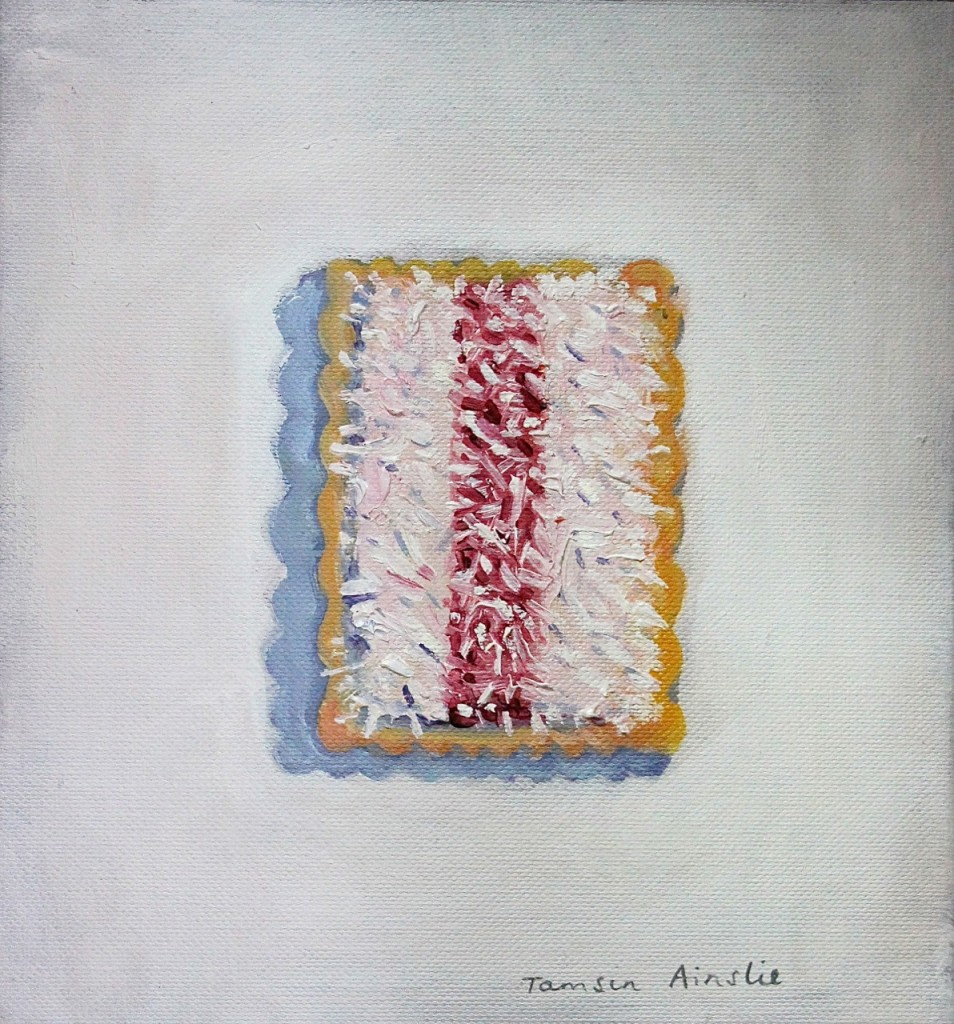 'Iced Vo-Vo' by Tamsin Ainslie at 'The Tiny Delicious Art Show'