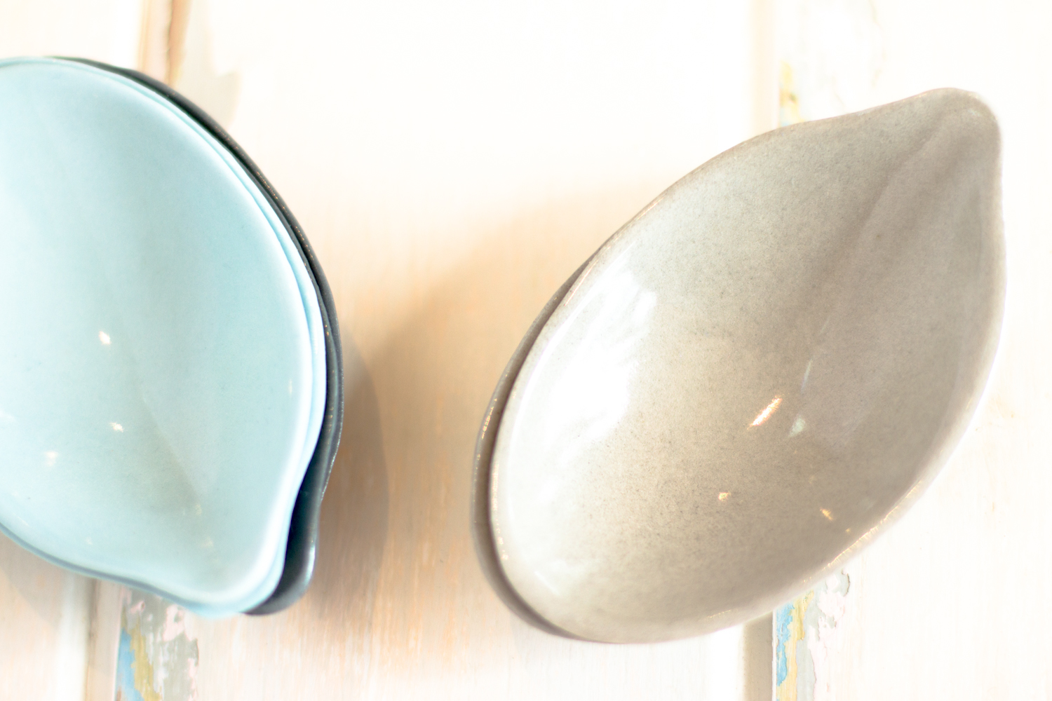 Ceramic serving scoops by Pinky & Maurice